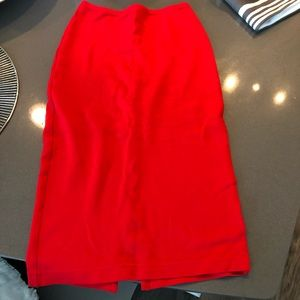 American Apparel High Waisted Pencil Skirt Red
